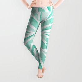 Symmetrical drops - aqua Leggings