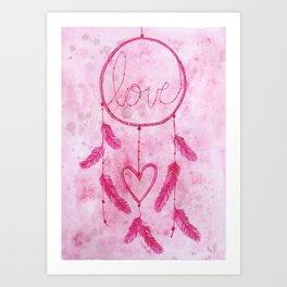 Dreams Come True: amour Art Print