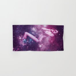 Galaxy Woman  Lavender Mauve Blue Hand & Bath Towel