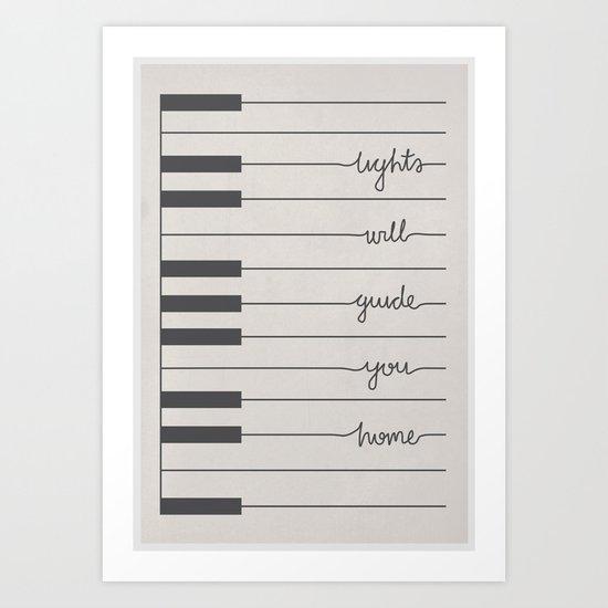 Piano Fix You lyrics Art Print
