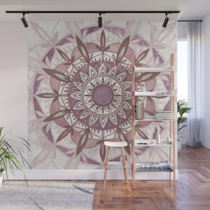 Blush Mandala Wall Mural