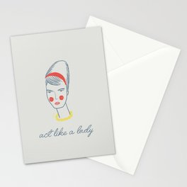 Act like a lady Stationery Cards