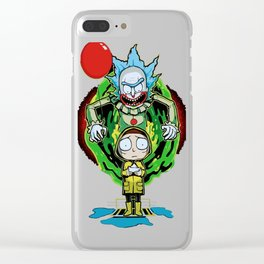 Rick & Morty x Pennywise Clear iPhone Case
