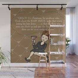 Karen Walker on Christmas . . . Wall Mural