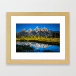 Grand Teton - Reflection at Schwabacher's Landing Framed Art Print