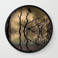 twilight Wall Clocks featuring Twilight by Shalisa Photography