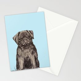 Louise adore les carlins Stationery Cards