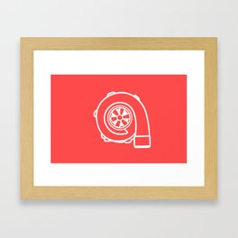 Forced Induction Turbo Framed Art Print