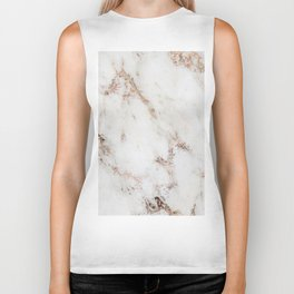 Artico marble - rose gold accents Biker Tank