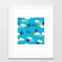 swallow Framed Art Prints featuring Swallow by Maedchenwahn
