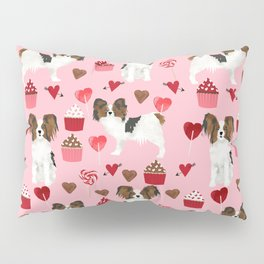 Papillon valentines day dog pattern cute gifts for dog lover unique dog breeds accessories Pillow Sham
