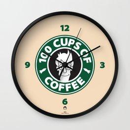 100 Cups of Coffee Wall Clock