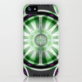 Pinwheel Hubcap in Green iPhone Case