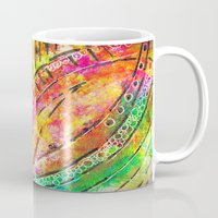 dot Mugs featuring dot dot by Kras Arts - Fly Me To The Moon