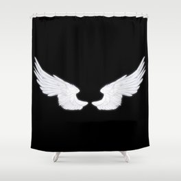 White Angel Wings Shower Curtain