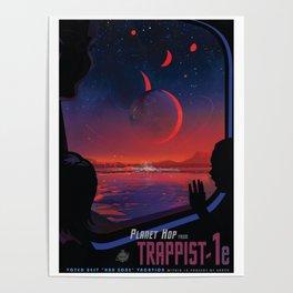NASA Retro Space Travel Poster #13 - TRAPPIST-1e Poster