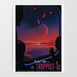 NASA Retro Space Travel Poster #13 - TRAPPIST-1e Poster