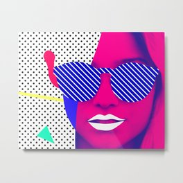 Pop Glasses Metal Print