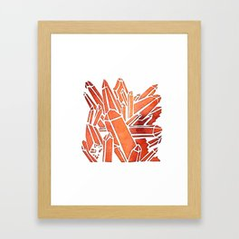 Tangerine Quartz Framed Art Print