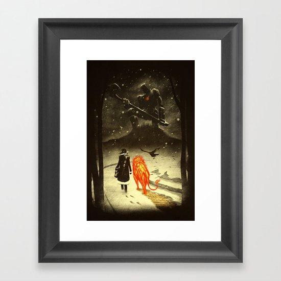 The Land Of Oz Framed Art Print