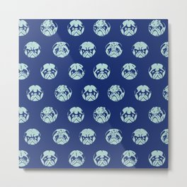POLKA DOT PUG Metal Print