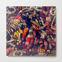 Strings of Colorful Beads Metal Print