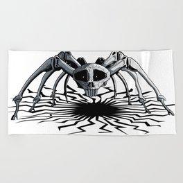 Skull Spider Beach Towel