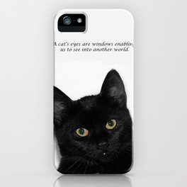 Black Cat  iPhone Case