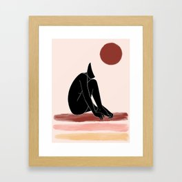 black nude 1 Framed Art Print