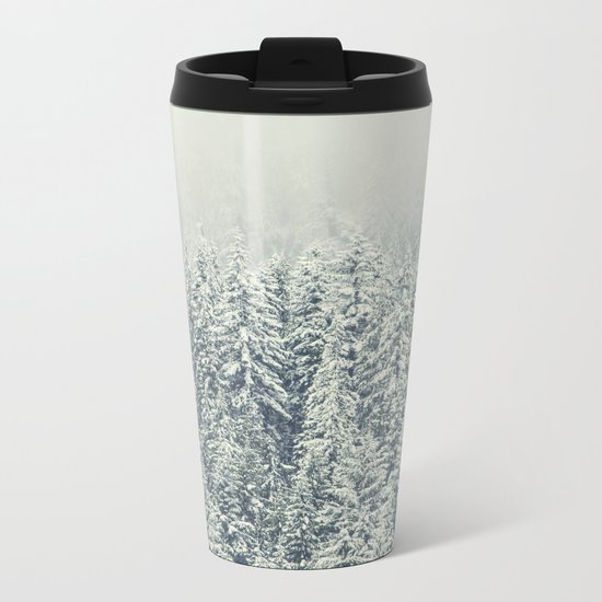 Winter Forest Metal Travel Mug