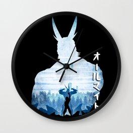 Minimalist Silhouette All Might Wall Clock