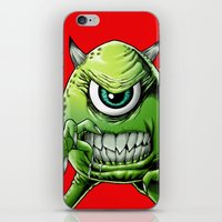 monsters inc iPhone & iPod Skins featuring Mike Monsters Inc. by J. J.