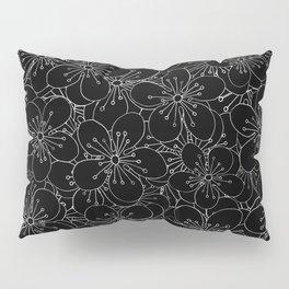 Cherry Blossom Black on White - In Memory of Mackenzie Pillow Sham