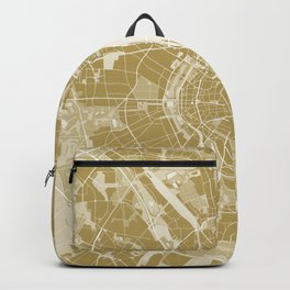 Cologne map gold Backpack