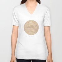mars V-neck T-shirts featuring Mars by Rumbottom