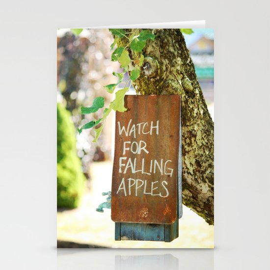 Falling Apples Stationery Cards