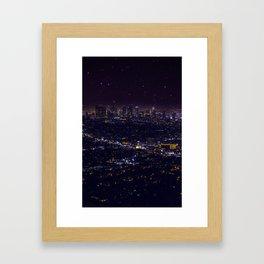 Stars Over Los Angeles II Framed Art Print