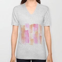 [161228] 4. Abstract Watercolour Color Study |Watercolor Brush Stroke Unisex V-Neck
