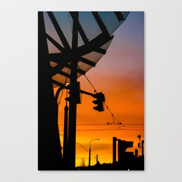 Prague's Dancing House Sunset Canvas Print