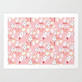 Alice in Wonderland - Rose Dream Art Print