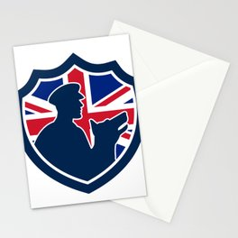 British Police Canine Team Crest Icon Stationery Cards