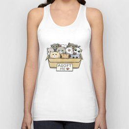 Box full of cats for adoption Unisex Tank Top