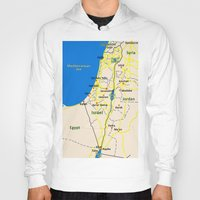 israel Hoodies featuring Israel Map design by Efratul