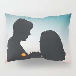 MAN - WOMAN - HANDS - LIGHTS - CIRCLES - PHOTOGRAPHY Pillow Sham