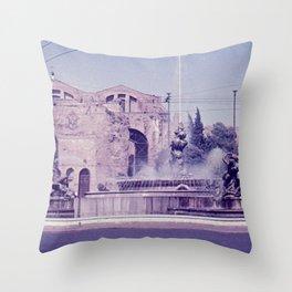 Vintage color photo * 1950's * Santa Maria degli Angeli e dei Martiri * Rome * Italy Throw Pillow
