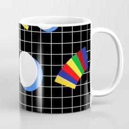 Memphis Grid & Rainbows Coffee Mug