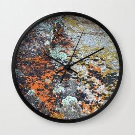Coloured Rocks Wall Clock