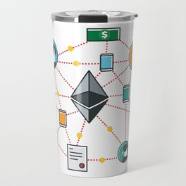 Ethereum Transactions Travel Mug
