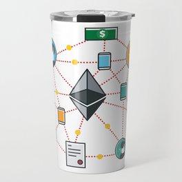 Ethereum Transactions Travel Mug