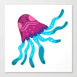 Cute Squid Canvas Print